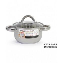 CACEROLA ESMALTADA C/TAPA 34cm - 12.5L FUEGO