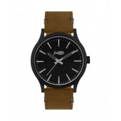 RELOJ LATITUDE BLACK - PULSERA MARRÓN
