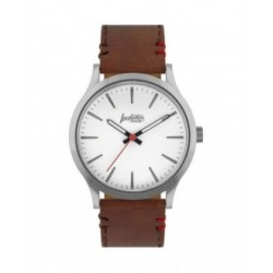 RELOJ LATITUDE SILVER AND WHITE - PULSERA MARRÓN