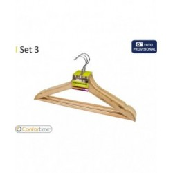 SET 3 PERCHAS MADERA 43,5X23CM CONFORTIME