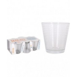 SET 6 VASOS 250cc MALAQ SMALL SQUARE