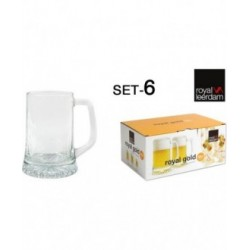 SET 6 JARRA CERVEZA 28cl ROYAL GOLD