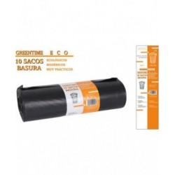 10 SACOS BASURA 120X150CM G200 / 240L GREENTIME ECO