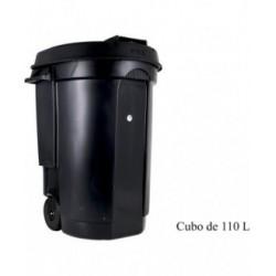 CUBO BASURA CON RUEDAS 110L EDA